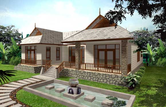Green Chalet Single Storey House